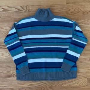 NWOT Chaps Striped Turtleneck Sweater